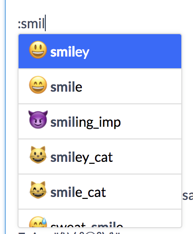 emoji by At.js